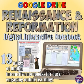 Renaissance and Reformation Google Drive Interactive Notebook