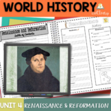 Renaissance and Reformation Interactive Notebook Complete Unit