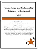 Renaissance and Reformation Interactive Notebook Unit