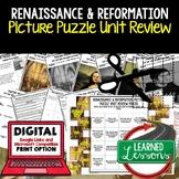 Renaissance and Reformation Picture Puzzle Unit Review, Study Guide, Test Prep