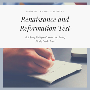 World History Renaissance Reformation Test Worksheets