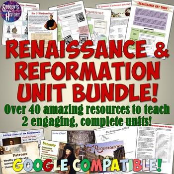 Renaissance and Reformation Complete Unit Set