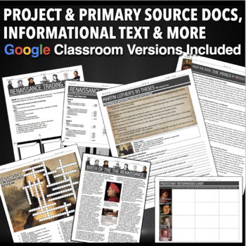 Renaissance and Reformation Unit - PPTs, Worksheets, Lesson Plans+Test
