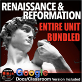 Renaissance and Reformation Unit - PPTs, Worksheets, Lesson Plans+Test