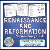 Renaissance and Reformation Vocabulary Unit