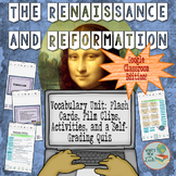 Renaissance and Reformation Vocabulary for Google and OneDrive Distance Learning