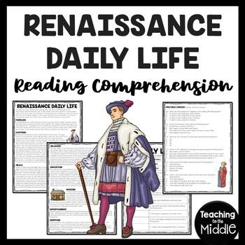 Renaissance daily life worksheet, European History, School, Clothing