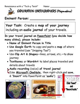 """Renaissance with a """"Tech-y Twist"""" - Explorer Activity"""