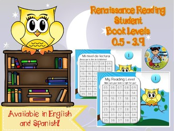 Renaissance Reading AR/RR Student book level cards Bilingual