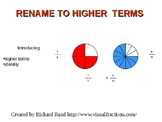 Rename fractions to higher terms