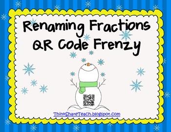 Renaming Fractions QR Code Frenzy