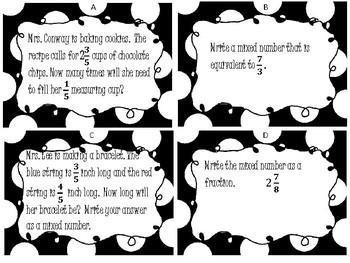 Renaming Fractions Task Cards