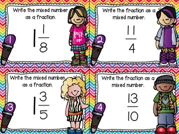 Renaming Fractions and Mixed Numbers Task Cards