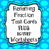 Rename Mixed Numbers and Improper Fractions Task Cards and Worksheets