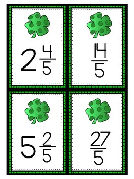 Renaming Mixed Numbers and Improper Fractions