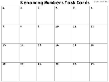 Renaming Numbers Task Cards {4.NBT.A.1} {4.NBT.A.2}