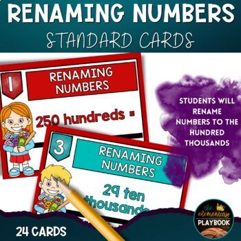 Renaming Numbers Task Cards (4th Grade) Place Value
