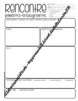 Rencontre parents-enseignante / Parents Teacher Meeting