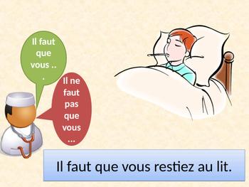 Rendez-vous chez le médecin Subjonctif French PowerPoint