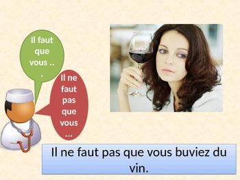 Rendez-vous chez le médecin Subjonctif (Doctor's Visit in French) PowerPoint