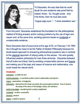Rene Descartes + Assessment