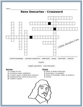 Rene Descartes + Assessment