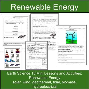 Renewable Energy BUNDLE: 15 Mini-Lessons and Activities