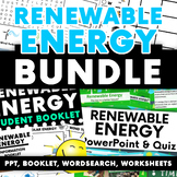 Renewable Energy Activity Bundle: PPT - Booklet - Worksheets - Word Search