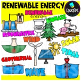 Renewable Energy Clip Art Bundle {Educlips Clipart}