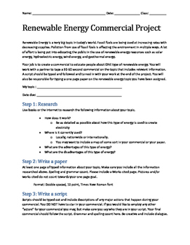 Renewable Energy Commercial Project (PDF Format)