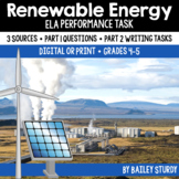 Distance Learning | SBAC ELA Performance Task - Renewable Energy