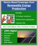 Renewable Energy Production – A Device-Based Scavenger Hunt Activity