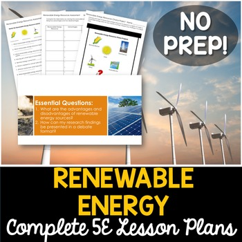 Renewable Energy Resources Complete 5E Lesson