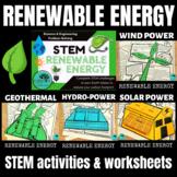 Renewable Energy STEM activities and worksheets Independen