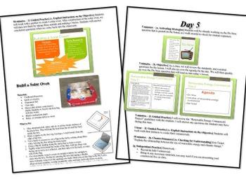 Renewable Energy Sources Unit Lesson Plan