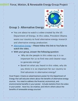 Renewable Energy Sources Web Quest