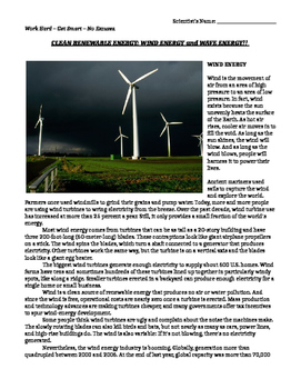 Renewable Energy: Wind and Wave