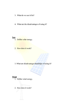 Renewable & Non Renewable Resources Worksheet (Bundled)