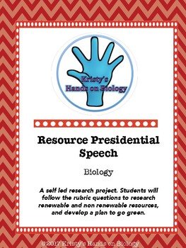 Renewable Resource Presidential Speech Rubric