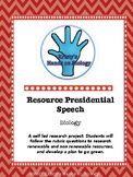 Renewable Resource Presidential Speech Rubric