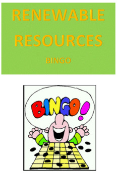 Renewable Resources Bingo