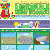 Renewable Resources Coloring Page and Crossword Puzzle