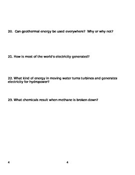 Renewable Resources Study Guide