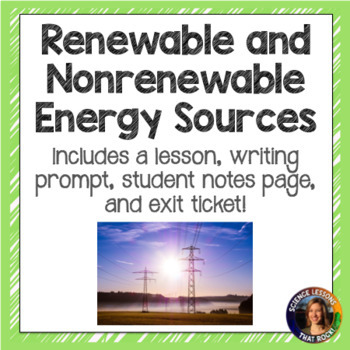 Renewable and Non-Renewable Energy SMART notebook presentation