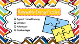 Renewable and Non-Renewable Energy puzzles & foldable