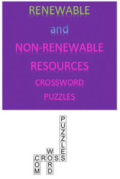 Renewable and Non-Renewable Resources Crossword Puzzles