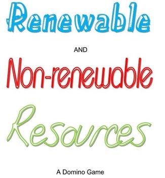 Renewable and Non-Renewable Resources Dominoes