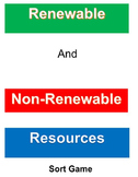 Renewable and Non-Renewable Resources Sort Game