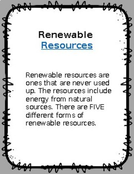 Renewable and Non-Renewable notes