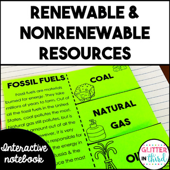 Renewable Resources and Nonrenewable Resources Interactive Notebook
